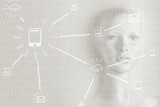 Artificial intelligence concept - Internet, network, globalization - 188850064