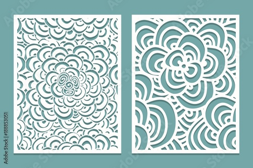Set Of Laser Cut Pattern Panel Templates Wood Or Paper Screen Lazer Template