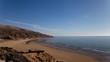 Vue sur l'océan et sur une plage déserte