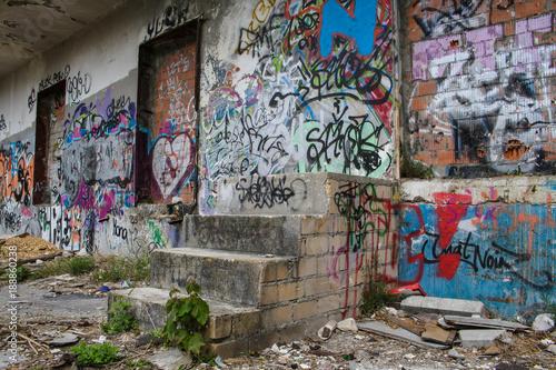 In de dag Graffiti graffiti wall wand