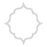 Arabic style frame icon - 188862416