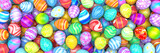 Pile of birght and colorful Easter Eggs - 3d render - 188870038