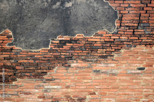 Foto op Plexiglas Baksteen muur Old brick over 500 years.