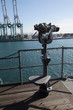 Mounted binoculars on the deck