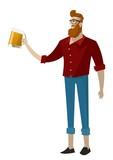 hipster guy drinking a beer - 188888683