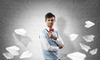 Conceptual image of young businessman.