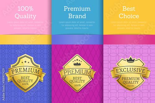 100 Quality Premium Brand Quality Best Labels