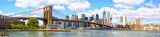 New York City Brooklyn Bridge panorama with Manhattan skyline - 188913603