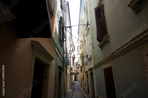Narrow street in the backstreets of Piran