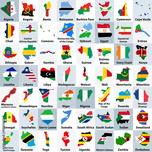 GamesAgeddon - all vector high detailed maps and flags of African ...