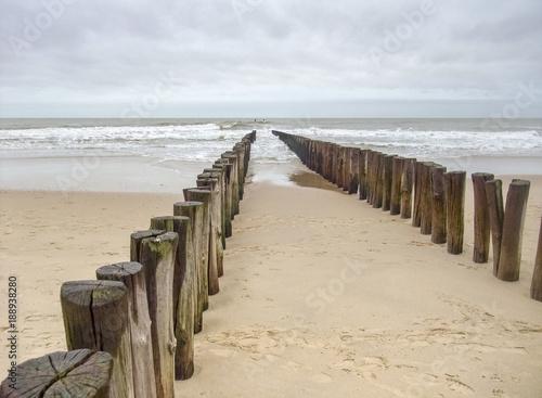Poster Noordzee coastal beach scenery