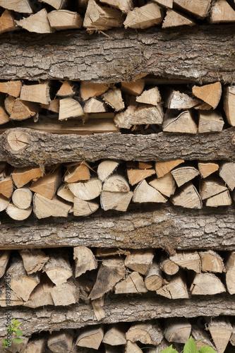 Foto op Canvas Brandhout textuur Brennholz