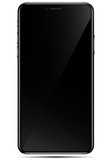Mobile new phone black smartphone isolated in a transparancy background. To present your application - 188947088