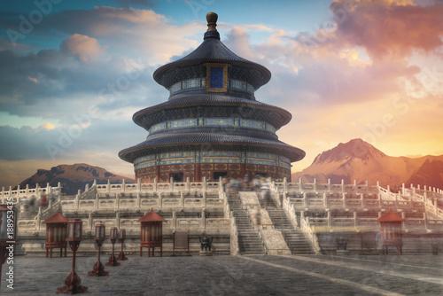 Fotobehang Peking Temple of Heaven - temple and monastery