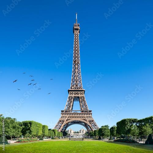 Fotobehang Eiffeltoren Eiffelturm in Paris, Frankreich