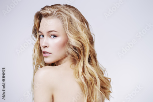canvas print picture nude blonde girl