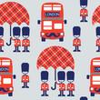 cartoon british vector pattern