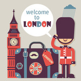 London vector flat style background - 188994671