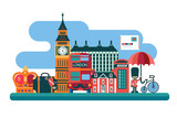 London vector illustration in flat style - 188994677