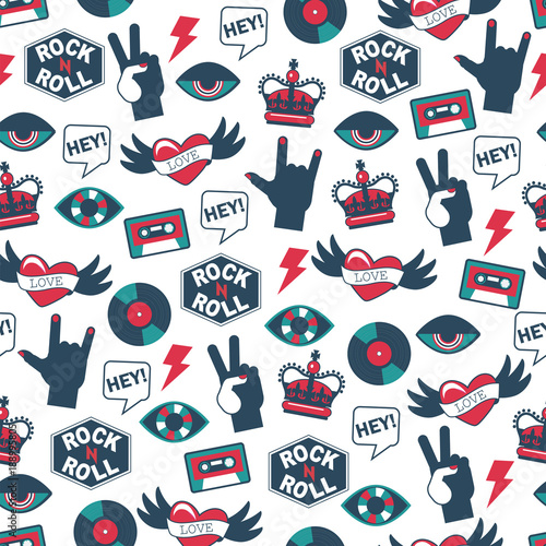 vector seamless rock and roll pattern