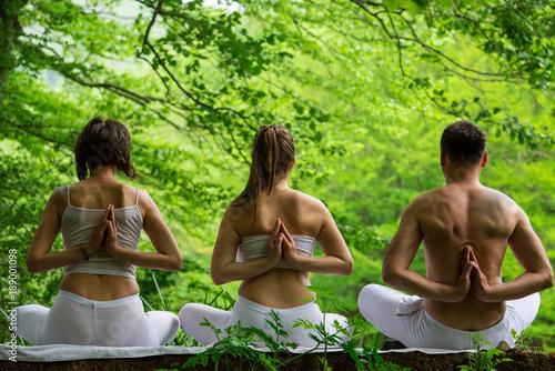 Obraz na płótnie Yoga in nature