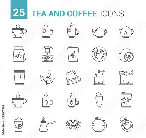 Tea and Coffee Line Icons