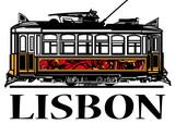 Old classic yellow tram of Lisbon - 189008074