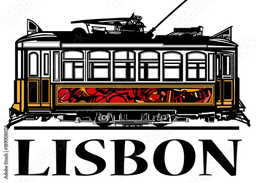 Foto op Plexiglas Art Studio Old classic yellow tram of Lisbon
