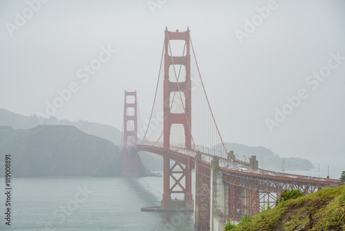 The famous and beautiful Golden Gate Bridge