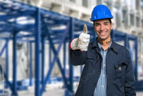 Happy engineer portrait
