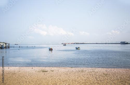 Fotobehang Thailand Pattaya beach to Thailand ocean in morning