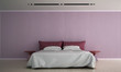The interior design of bedroom and pink color pattern wall texture background  - 189021288