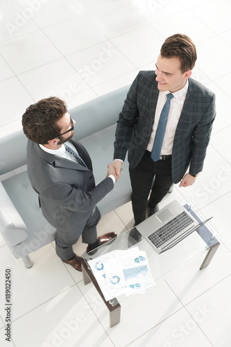 marketing concept. handshake business partners