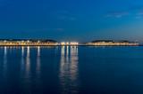 Night illumination of wharf