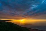 Spectacular sunset nature background