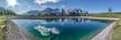 Leinwanddruck Bild - ein herrlich blauer See vor dem großen Wilden Kaiser