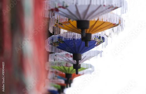 Umbrellas / paper umbrellas colorful : Colorful background