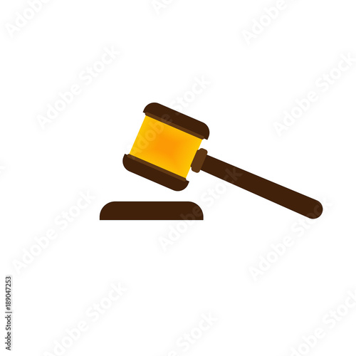 judge's hammer isolated vector