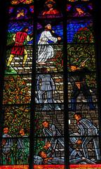 Stained Glass in Votivkirche in Vienna, Austria