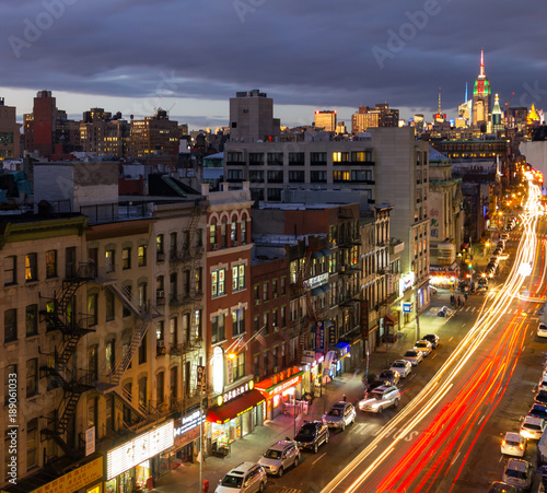 Foto op Plexiglas New York New York City night time cityscape