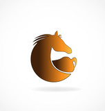 Brown horse isolated vector icon