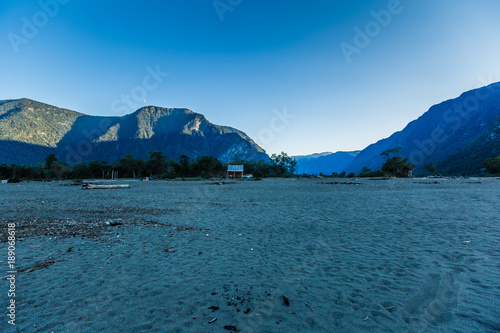 Fotobehang Groen blauw Views of Mountainous Altai, Russia