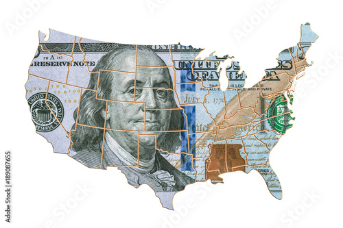 Business investments, finance in the USA concept. 3D rendering