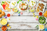 Spring Easter main dish table setting - 189096629