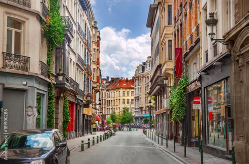 Foto Spatwand Brussel Street in Brussels