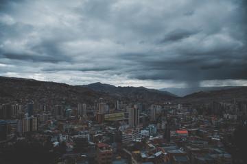 Stormy La Paz Bolivia