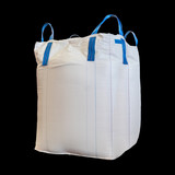 Jumbo bag of white sugar isolated on black background with clipping path. - 189122420
