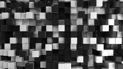 Wall of black and white cubes © GooD_WiN