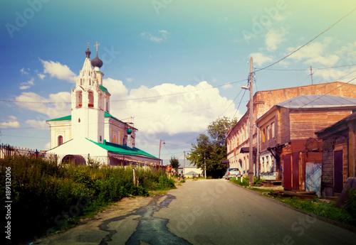 Fotobehang Zomer Old street at Vladimir