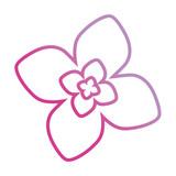 purple  flower design vector illustration - 189140052